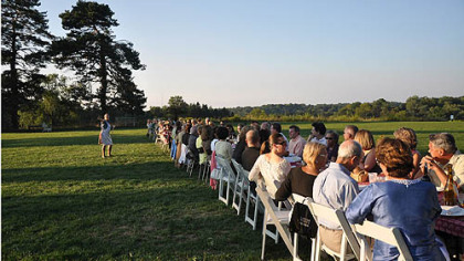Last year&#039;s Italian Garden Dinner on the lawn at Fern Hollow Nature Center in Sewickley Heights. The center will serve up this year&#039;s meal at 6 p.m. on Aug. 24