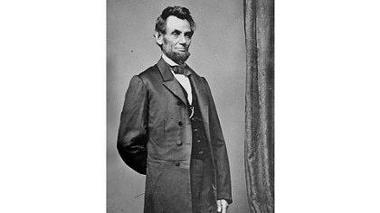 President Abraham Lincoln in an iconic portrait.