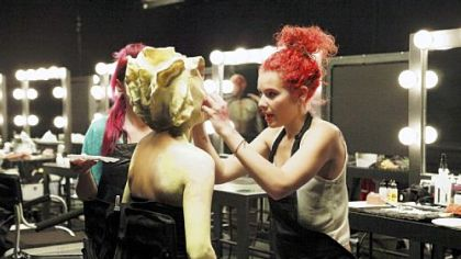Alana  Schiro, right, works on the first challenge of &quot;Face-Off&#039;s&quot; new season.