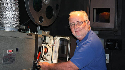 Art Milliren is a movie projectionist for Pittsburgh Cultural Trust, working primarily at Pittsburgh Fillmmakers' Harris Theater, Downtown.