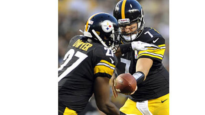 Ben Roethlisberger handing off to Jonathan Dwyer is a common sight this preseason for the Steelers.