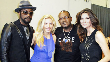 """American Idol's"" Randy Jackson wears a ""CARE"" shirt designed by James Houk."