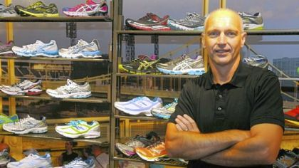 Bill Shepardson is the director of the new True Runner shoe store in Shadyside.