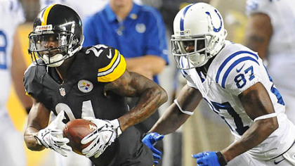 Cornerback Ike Taylor, returning an interception Sunday, is determined not to let anybody down this season.