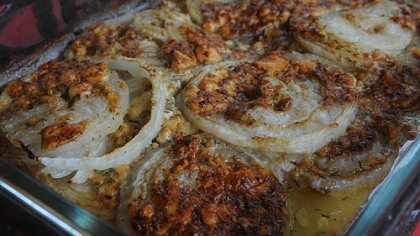 Blue Cheese-Crusted Onions.