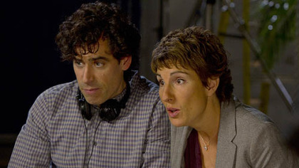 "As British television writers, Stephen Mangan, left, and Tamsin Greig offer an outsider's perspective of Hollywood in the Showtime comedy ""Episodes."""