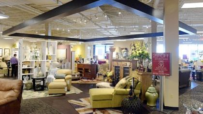 The interior of the new La-Z-Boy store at 4054 William Penn Highway in Monroeville.