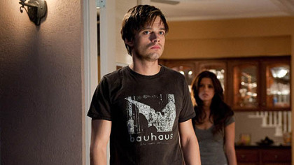 "Sebastian Stan and Ashley Greene are frightened by supernatural happenings in ""The Apparition."""