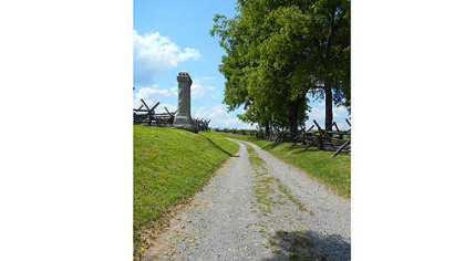 Bloody Lane at Antietam Battlefield.