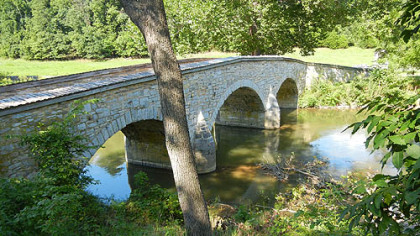 Burnside Bridge at Antietam Battlefield.