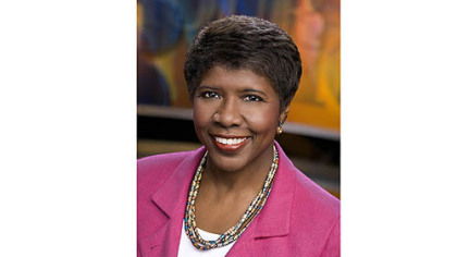 "Gwen Ifill from ""PBS Newshour."""