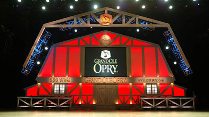 Grand Ole Opry stage in Nashville.