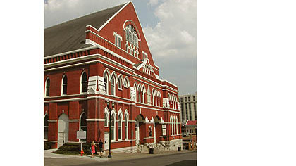 Ryman Auditorium in Nashville.