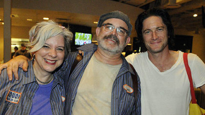 Artistic directors Jackie Dempsey and Steve O'Hearn with David Conrad.