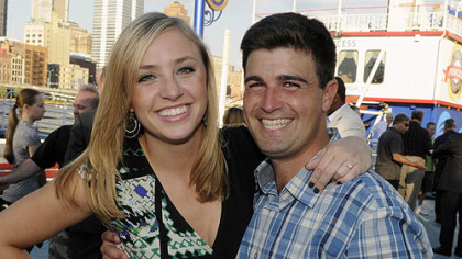 Katie Stolberg and fiance Corey O'Connor.