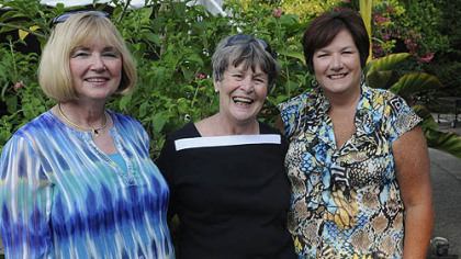 Board Members Jennifer Fox Rabold, Jolie Schroeder and Sandi Tomlinson.