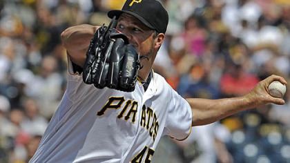 Pitcher Erik Bedard, in action Sunday against Milwaukee, has been released by the Pirates.