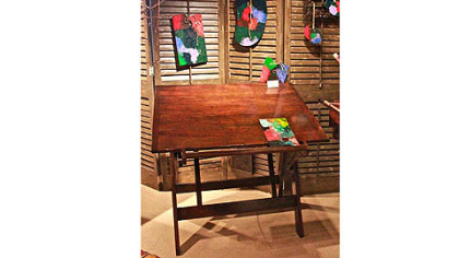 Painters work desk by Bob Timberlake Home for Century Furniture.