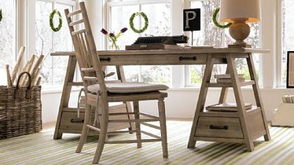 The Saw Horse Work Table from the Down Home Collection from Paula Deen.