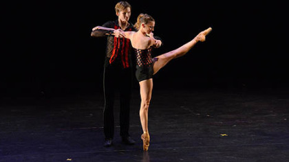 Pittsburgh Ballet Theatre corps de ballet member Nicholas Coppula and principal dancer Alexandra Kochis perform in Israel.