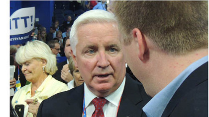 Pennsylvania Tom Corbett at Republican convention in Tampa Florida.