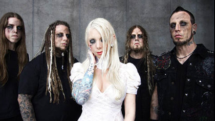In This Moment, featuring singer Maria Brink, center, is part of the Rockstar Energy Uproar Festival.