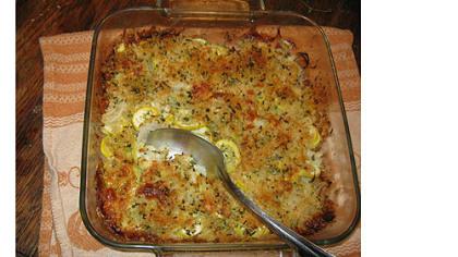 Seasonal comfort food: Yellow Squash Casserole.