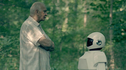 "Ex-burglar Frank Langella comes to rely on his Robot for more than caretaking in ""Robot & Frank."""