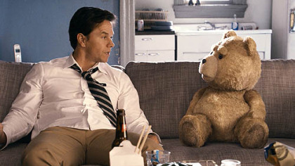 "Mark Wahlberg in ""Ted."""