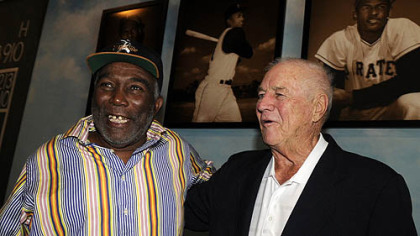 Manny Sanguillen and Bob Friend.