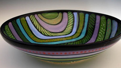 An example of ceramic work by artist Jan McAllister.