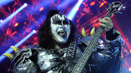 Gene Simmons performs with KISS at First Niagara Pavilion Sunday night.