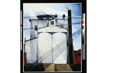 &quot;My Egypt,&quot; a 1927 work by Charles Demuth (American, 1883-1935).