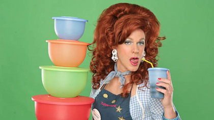 Dixie Longate in &quot;Dixie&#039;s Tupperware Party&quot; at the CLO Cabaret.