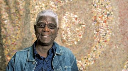 The artist El Anatsui.