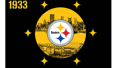 The Steelers flag designed by Army veteran Brent Osbourne.