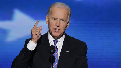 Vice President Joe Biden addresses the Democratic National Convention.