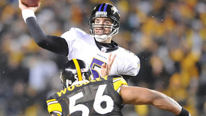 The Steelers know what Joe Flacco is capable of -- they lost to him twice last season.