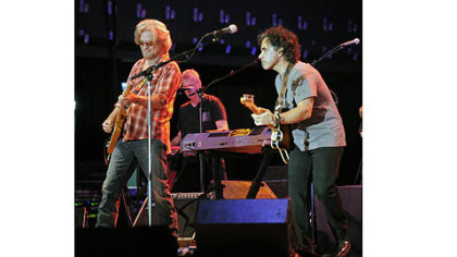 Hall and Oates open their  sold out concert with the 1977 hit &quot;Maneater.&quot;