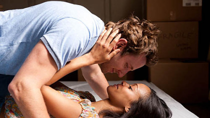 Bradley Cooper and Zoe Saldana in &quot;The Words.&quot;