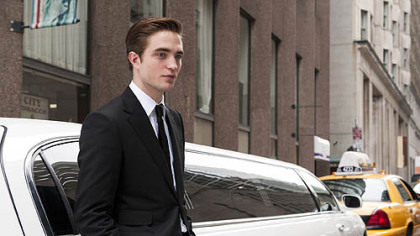 "Robert Pattinson never leaves the car in ""Cosmopolis."""