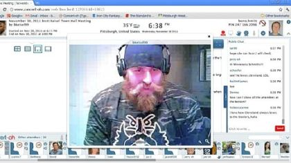 Brett Keisel on Concert-oh, a videoconferencing website