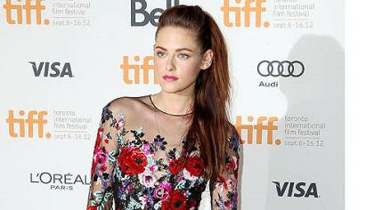 "Kristen Stewart at the gala premiere for ""On the Road"" during the Toronto International Film Festival."