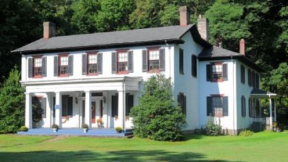 The five-bedroom home was built in 1824, with an addition in 1830-32. It is on the market for $425,000.