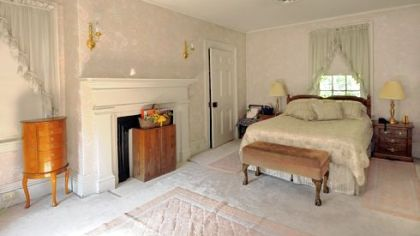 The master bedroom of the historic Thomas Wilson Shaw house in Shaler.
