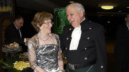 Ted Ackmann and wife Carmen Ackmann at the American Ireland Fund Dinner in 2008.