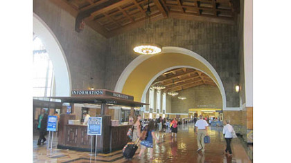 Inside Union Station Los Angeles.