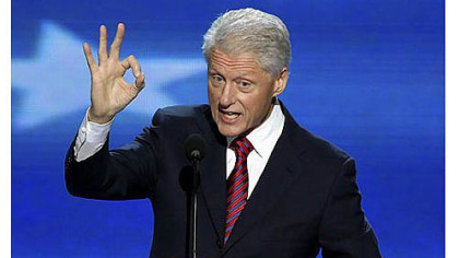 Former President Bill Clinton addresses the Democratic National Convention in Charlotte, N.C., on Wednesday.