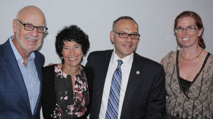 Edgar and Sandy Snyder, Jeffrey Finkelstein and  