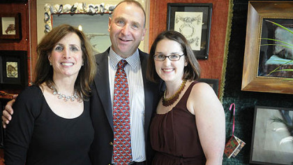 Debbie and Sam Berkowitz with Allison Oehler.